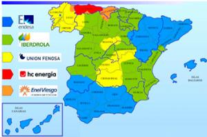 Mercado eléctrico mapa